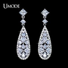 UMODE Brincos Vintage Rhodium plated Long Earrings With Mulitshape AAA CZ  Drop Earrings For Women Jewelry AUE0091     Tag a friend who would love this!     FREE Shipping Worldwide     Buy one here---> http://jewelry-steals.com/products/umode-brincos-vintage-rhodium-plated-long-earrings-with-mulitshape-aaa-cz-drop-earrings-for-women-jewelry-aue0091/    #gold_earrings