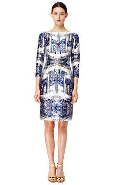 Storm Blue Sheath Dress by Prabal Gurung Now Available on Moda Operandi