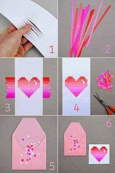 Arte & Reciclaje: Tarjeta romantica hecha con sus manos