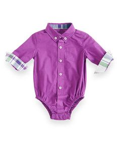 This Purple Oxford Bodysuit - Infant is perfect! #zulilyfinds