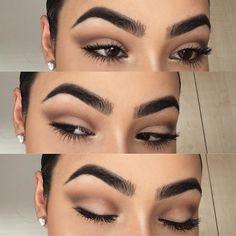 everyday smokey eye @nilltavangar w/ brown crease | #makeup #neutral