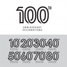 100 Th Anniversary Celebration Vector Template Design Illustration - Stoc , 100 Logo, Typography Design, Lettering, Alphabet, Anniversary Logo, Retro Logos, Letter Logo, Logo Design Inspiration, The 100