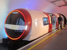 Siemens unveils proposal for future London Underground train. Siemens has unveiled a full-sized mock-up of the train which it intends to offer when Transport for London calls tenders for new. London Transport, London Travel, Public Transport, London Underground Train, Tube Train, Mind The Gap, Things To Do In London, London England, Concept Cars