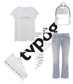 """""""Typography T- shirt trend"""" by dark-opulence ❤ liked on Polyvore featuring Poverty Flats, MANGO, MM6 Maison Margiela, Current/Elliott, simple, clean, Tshirt, typography and leisure"""