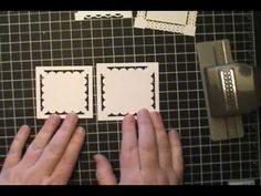 Frames made with Stampin' Up! Border Punches