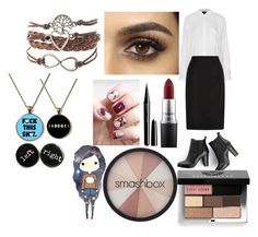 """Heather Jones School"" by weirdo-juan-oh-juan on Polyvore featuring Topshop, Hobbs, SWEET MANGO, MAC Cosmetics, Marc Jacobs, Bobbi Brown Cosmetics and Smashbox"