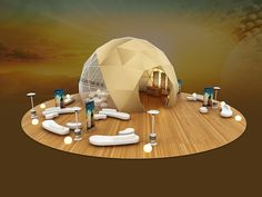 Very creative open concept with spherical enclosure. Like it? We can build something like it! - TriadCreativeGroup.com