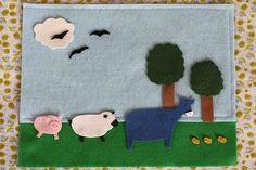 Felt board w/ farmyard scene