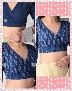 50 cute crop tops for any body type 16 Blouse Back Neck Designs, Cotton Saree Blouse Designs, Fancy Blouse Designs, Kurta Designs, Lingerie, Sari Design, Stylish Blouse Design, Designer Blouse Patterns, Collor