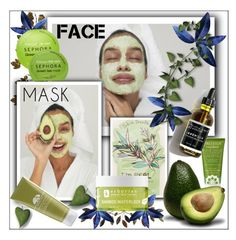 """""""Face Mask"""" by frenchfriesblackmg ❤ liked on Polyvore featuring beauty, Joanna Vargas, Aerie, Erborian, Sephora Collection, Origins and Pacifica"""