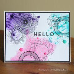 Flaunt Your Creativity: Watercolor Blog Hop Dizzy Circles stamp set