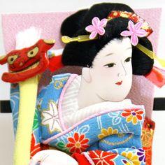 KABUKI ornamental Hagoita Battledore YAYOI by Minamikawa