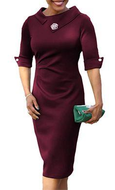 48e785541 Formal Dresses For Women, Simple Dresses, Dresses For Work, Office Dresses,  Sheath Dress, Bodycon Dress, Dress Backs, Polyester Spandex, Detail Design