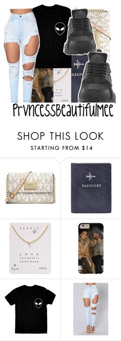 """"""""""" by prvncessbeautifulmee ❤ liked on Polyvore featuring Michael Kors, FOSSIL, Dogeared and NIKE"""