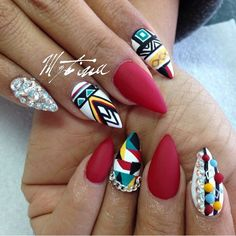 Today, i will share with you best Red Stiletto Nail Arts Red Stiletto Nail Arts Related posts: Best stiletto nail art designs Nail art wedding designs 2019 simple Game of Thrones Nail Arts 2019 Summer Fruit Acrylic Nail Arts Get Nails, Dope Nails, How To Do Nails, Hair And Nails, Fabulous Nails, Gorgeous Nails, Pretty Nails, Aztec Nails, Stiletto Nail Art