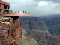 Feel the terror as you look down 4,770 ft. into the base of the Grand Canyon from the glass-bottom Skywalk platform.