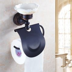46.39$  Watch now - http://ai3xu.worlditems.win/all/product.php?id=1000003344355 -  Antique Brass Black Finish Creative Wall Mounted Flower Carved Bathroom Brass Toilet Paper Holder Tissue Roll With Soap Dishes