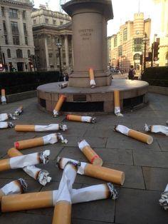 Gigantic Cigarette Butts Litter The Streets Of London