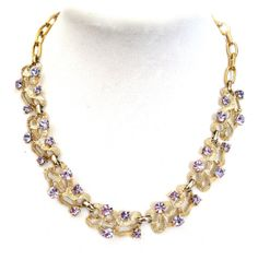 Vintage Alexandrite Rhinestone Necklace by Coro by Vintageimagine, $115.00
