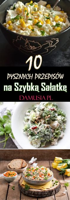 TOP 10 Pysznych Przepisów na Szybką Sałatkę! Slow Cooker Kitchen, Slow Cooker Soup, Beer Cheese Soups, Cobb Salad, Salad Recipes, Lunch Box, Food And Drink, Meals, Cooking