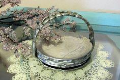 Vintage Wild Cabbage Leaf Coasters Set of 8 Vintage Coasters and Holder by AshleysSunroom on Etsy
