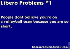 #1 volleyball pet peeve off the court...when people say I can't play volleyball because of my height -_______- like swervee