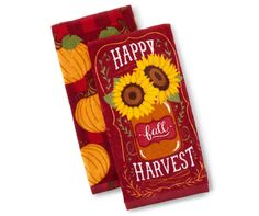 Sunflower & Pumpkin Kitchen Towels, 2-Pack at Big Lots.