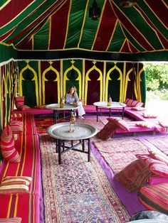 arabian and moroccan tent