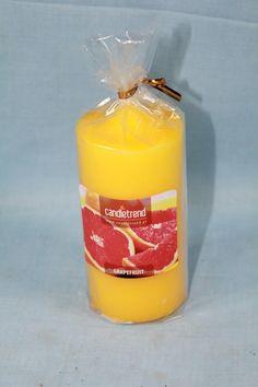 #Kerze Grapefruit, Candle Decorations