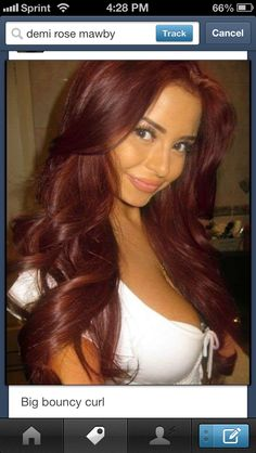 Burgundy hair color - Jeanette this color for you