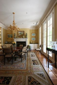 Dining Room #antique #diningtable #frenchdoors Photo Credit Dennis Hornick