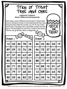 Halloween Math Games First Grade by Games 4 Learning