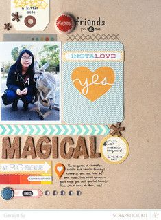 #papercraft #scrapbook #layout - Studio Calico-Valley High Magical by qingmei at @Studio_Calico