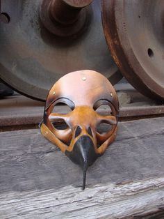 Death Mask: Hawk Skull Leather Mask