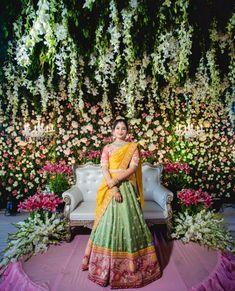 Indian Bridal Outfits, Indian Bridal Fashion, Indian Bridal Wear, Indian Designer Outfits, Wedding Outfits, Half Saree Lehenga, Bridal Lehenga, Lehenga Skirt, Pink Lehenga