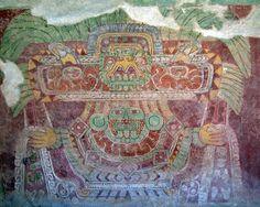 Fresco de uno de los templos de Teotihuacan,representa a Tlaloc