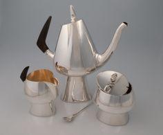 Heikki Seppa, Coffee Set - Sterling silver, ebony