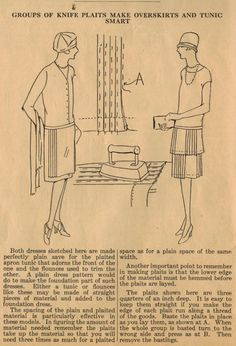 The Midvale Cottage Post: Home Sewing Tips from the 1920s - Add Overskirt with Knife Pleats to Your Frock