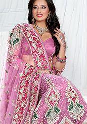 Pretty Pink Net Lehenga Choli