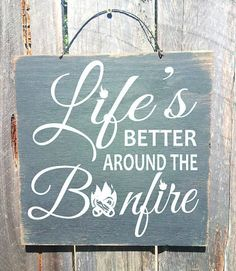 bonfire sign camping decor camping sign camp by FarmhouseChicSigns