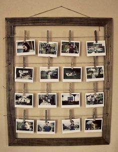 Porta foto telaio di legno