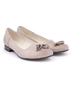 Cappuccino Tassel-Accent Leather Flat