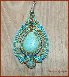 Türkit csepp rozsdásan Shibori, Wearable Art, Turquoise Necklace, Ribbon, Drop Earrings, Jewelry, Tape, Treadmills, Jewlery