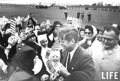 Irish schoolchildren waving flag as they greet President John F. Kennedy (C).Ireland  June 1963  ✾❤✾❤❁❤❃❤❁❤❁❤❁❤❁❤  http://www.jfklibrary.org/JFK/JFK-in-History/John-F-Kennedy-and-Ireland.aspx  http://en.wikipedia.org/wiki/JFK_in_Ireland  http://en.wikipedia.org/wiki/John_F._Kennedy   http://www.nps.gov/nr/travel/presidents/john_f_kennedy_birthplace.html