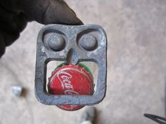 Scary Tiki face forged bottle opener by BallardForge on Etsy, $15.00