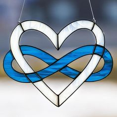Infinity heart, stained glass suncatcher, Anniversary gift, Valentine's Day gift on Etsy