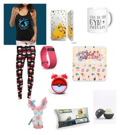 """""""pokemon sleepwear"""" by koalamacaron ❤ liked on Polyvore featuring Fitbit, Nintendo, Hot Topic and Eos"""