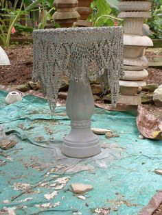 Cement crochet! http://www.thehypertufagardener.com/oh-the -possibilities-draped-hypertufa/