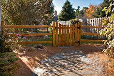 2 Rail Cedar Split Rail with Concave Red Cedar Picket Gates