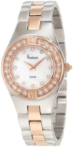 Freelook Women's HA2082RG-3 Mother-Of-Pearl White Face Swarovski Face And Bezel Watch Freelook,http://www.amazon.com/dp/B007SM1FCK/ref=cm_sw_r_pi_dp_gElesb008A9EMT7Q